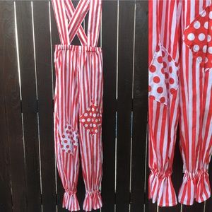 Retro Clown Pennywise Costume Red Stripes